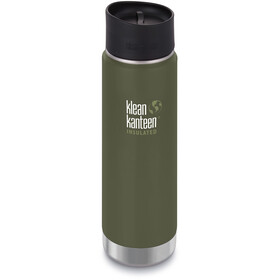 Klean Kanteen Wide Vacuum Insulated Drikkeflaske Café Cap 2.0 592ml, fresh pine matt